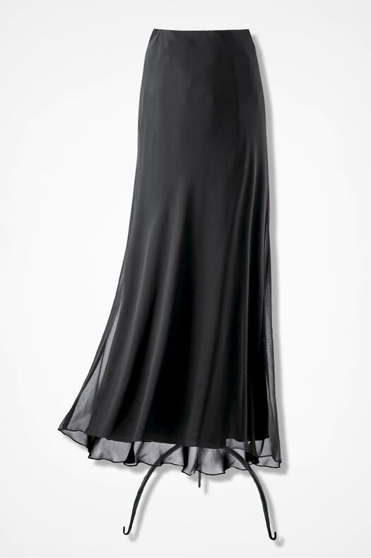 Chiffon Soirée Skirt, Black, large