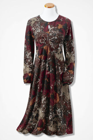 Twilight Garden Knit Dress, Floral, large
