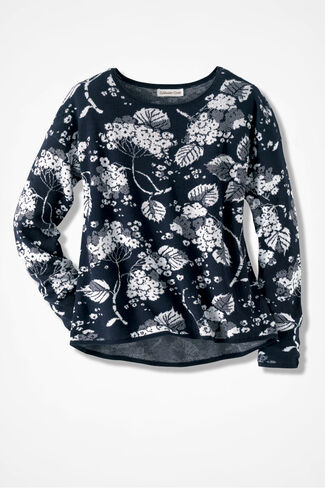 Into the Garden Sweater, Navy, large