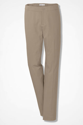 CottonLuxe® Ankle Pants, Dark Desert Khaki, large