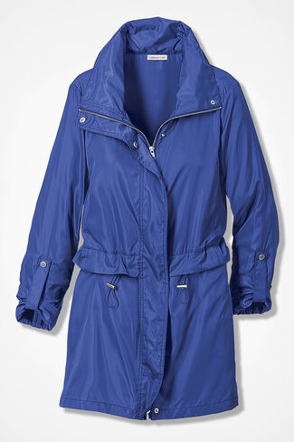 Rain Or Shine Anorak, Blue, large