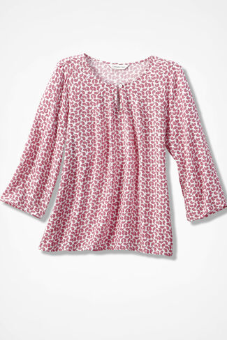 Infinite Paisley Top, Dusty Rose, large