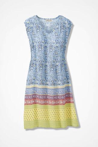 Pattern Melange Dress, Blue Multi, large