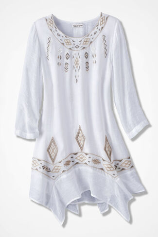 Canyon Breezes Embroidered Tunic, Ivory, large