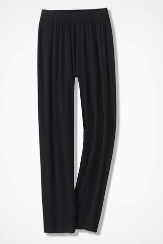 Beach Stroll Gauze Pants, Black, large