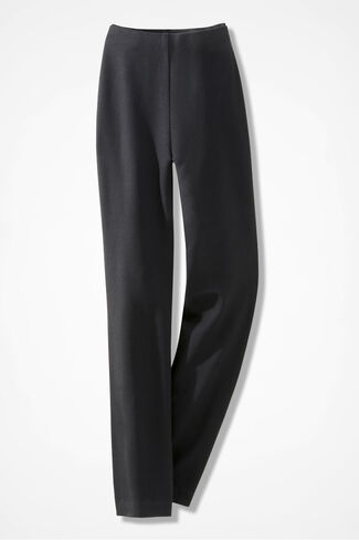 Holly Summer-Weight Ponte Pants, Black, large