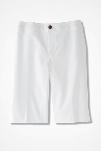 CottonLuxe™ City Shorts, White, large