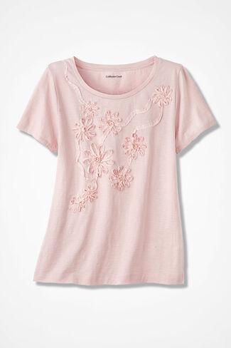 Ribbon Bloom Tee, Petal Pink, large