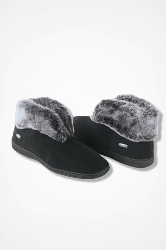"""""""Chinchilla"""" Bootie by Acorn®, Black, large"""