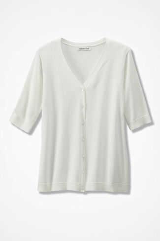 Day-to-Day Cardigan, Ivory, large