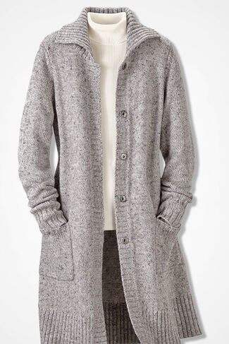 Winter Mix Duster, Grey, large