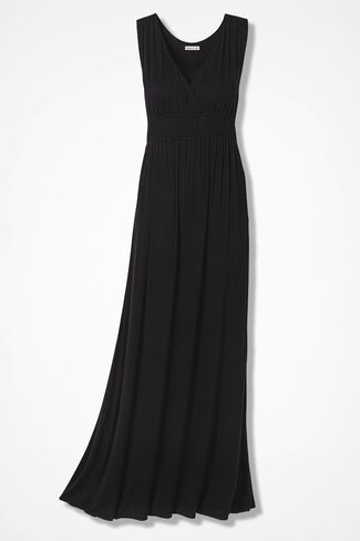 Elegant Maxi Dress, Black, large