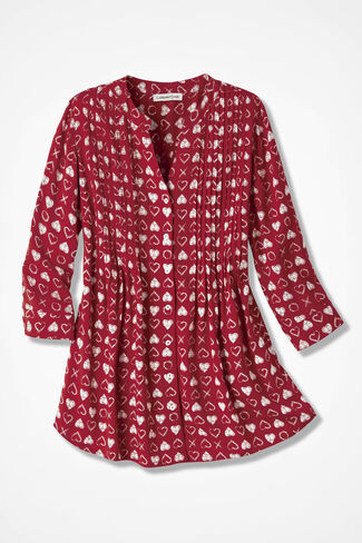 Lots of Love Tunic, Fresh Red, large