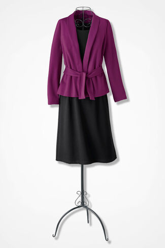 Ponte Jacket Dress, Vienna Currant, large