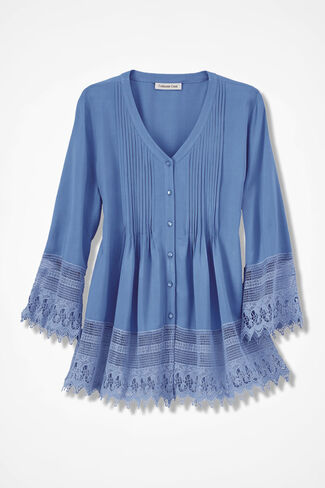 Gracious Lace Blouse, Antique Blue, large