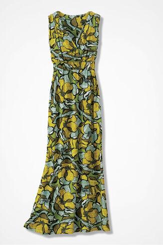 Tropical Garden Maxi Dress, Amber, large