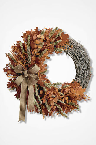 Fall Fair Wreath, Orange, large