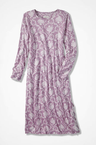 Floribunda Knit Gown, Pink Thistle, large