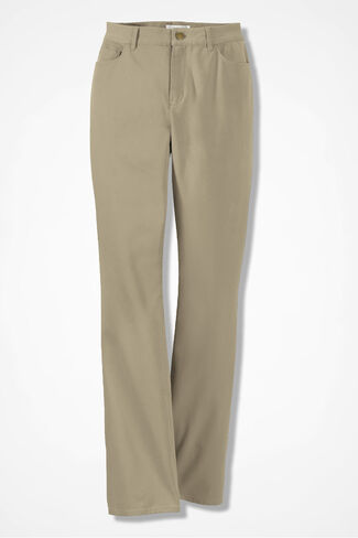 Washed CottonLuxe® Bootcut Pants, Dark Desert Khaki, large