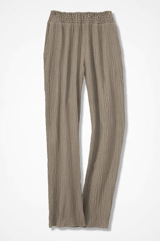 Relaxed Crinkle Pants, Dune, large