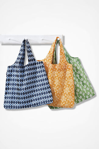 Tuck-Away Reusable Totes, Multi, large