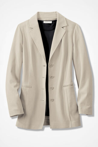 Ponte Perfect® Boyfriend Jacket, Alabaster, large