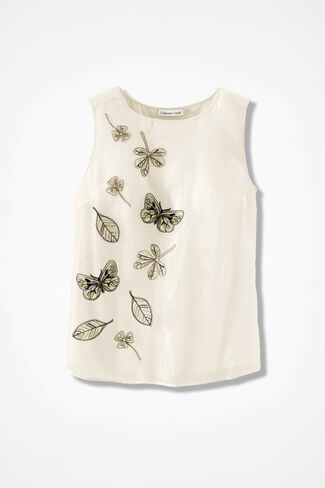 Embroidered Shell, Ivory, large