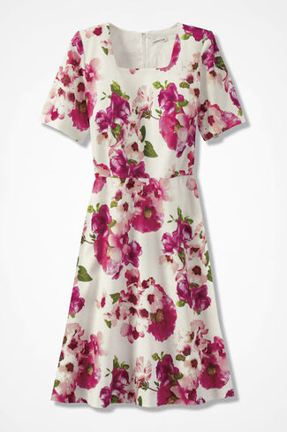 Frankly Floral A-line Dress, Pink Multi, large