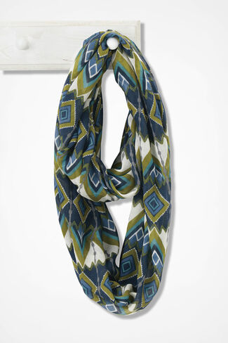Forgotten Trails Infinity Scarf, Navy Multi, large