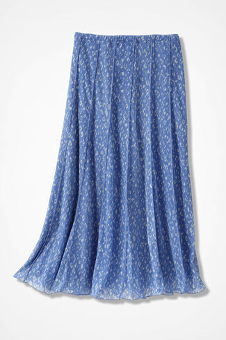 Pebble Dots Mesh Knit Skirt, Medium Blue, large