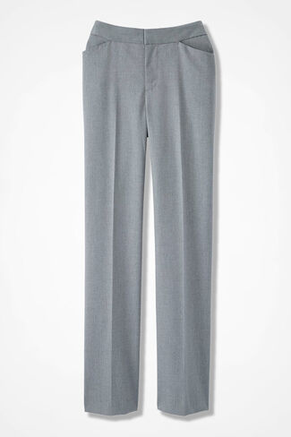 The Stretch Flannel Gallery Pant, Lt Grey Heather, large