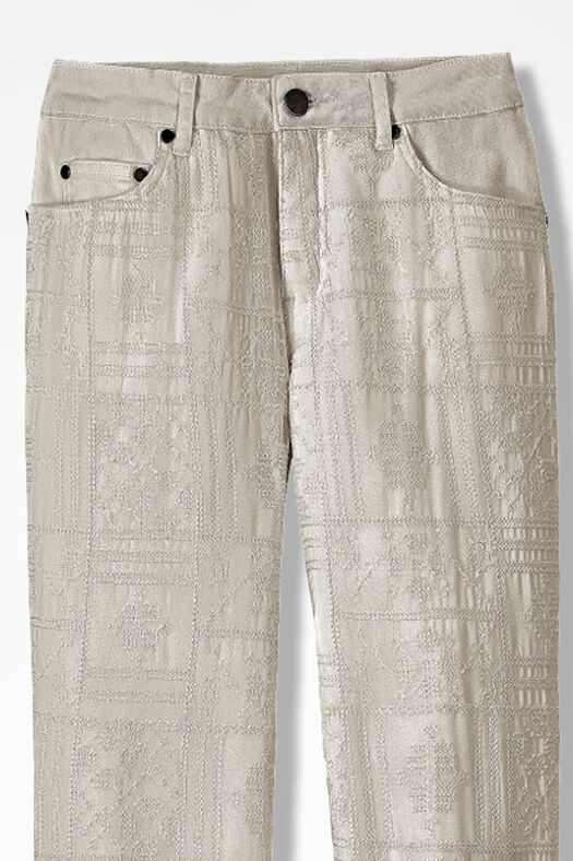 Cross stitch embroidered jeans coldwater creek