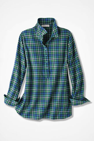 Celebration Plaid Popover, Sapphire, large