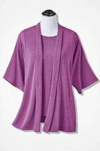 Destinations Kimono Jacket, Pink Lilac, large