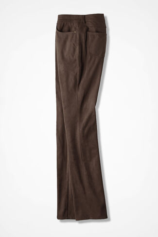 Premiere Faux Suede Pants, Cocoa Brown, large