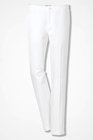 CottonLuxe® Ankle Pants, White, large