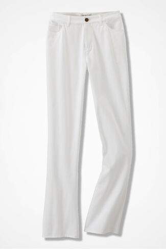 Washed CottonLuxe® Bootcut Pants, White, large