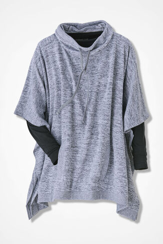 Layers-Go-Lightly Poncho, Grey, large
