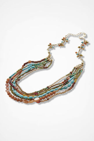 Festival of Colors Necklace, Multi, large