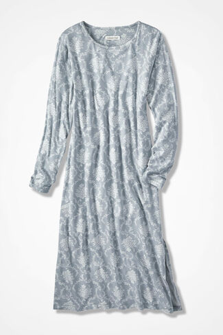 Floribunda Knit Gown, Dove Grey, large