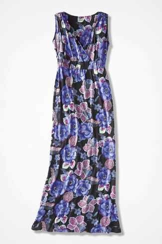 Floral Batik Maxi Dress, Perfect Peri Multi, large