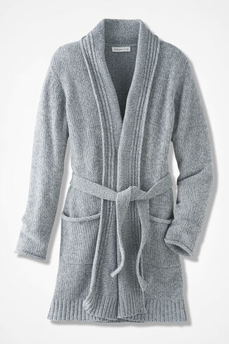 Fireside Chenille Robe, Mid Heather Grey, large