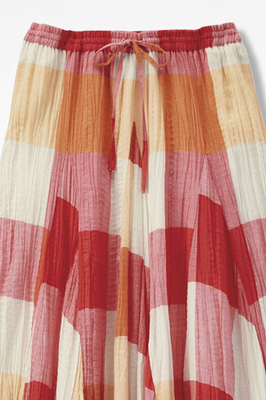Crossroads Crinkle Skirt, Rich Coral, large