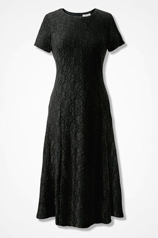 Lace Romance Dress, Black, large
