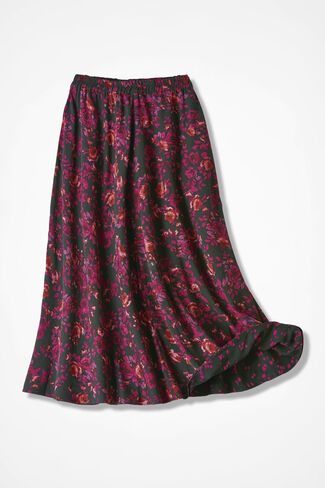 Raindrops-n-Roses Reversible Skirt, Multi, large