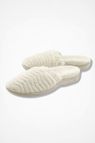 """""""Spa Support Scuff"""" Slippers by Acorn®, Natural, large"""