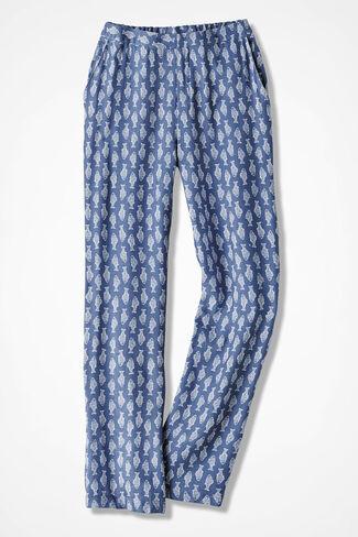 Gone Fishing Linen Pants, Lake Blue, large