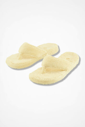 """Spa Thong"" Slippers by Acorn®, Buttercream, large"