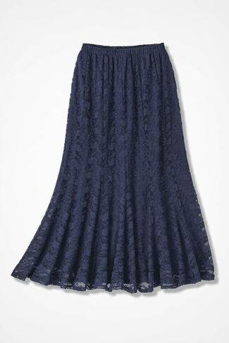 Lavish Lace Skirt, Navy, large
