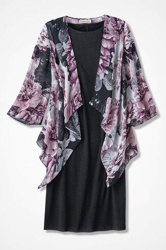 Bold Bouquets Jacket Dress, Black Multi, large